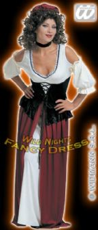 FANCY DRESS COSTUME = XL DELUXE TAVERN WENCH / MAID